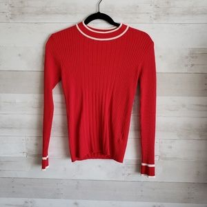 Anthropologie Just red sweater